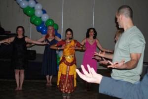 Dance step for tadasana