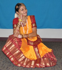 Admiring Krishna's beauty - Warwick Library Aug 2011