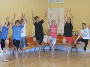 Yoga Pose by students